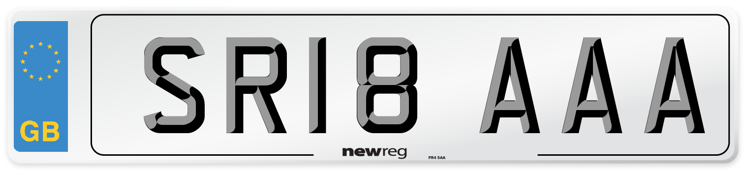 SR18 AAA Number Plate from New Reg