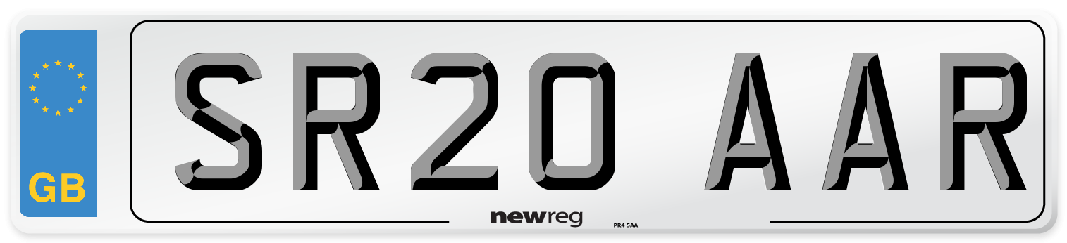 SR20 AAR Number Plate from New Reg