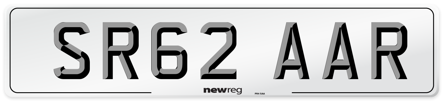 SR62 AAR Number Plate from New Reg