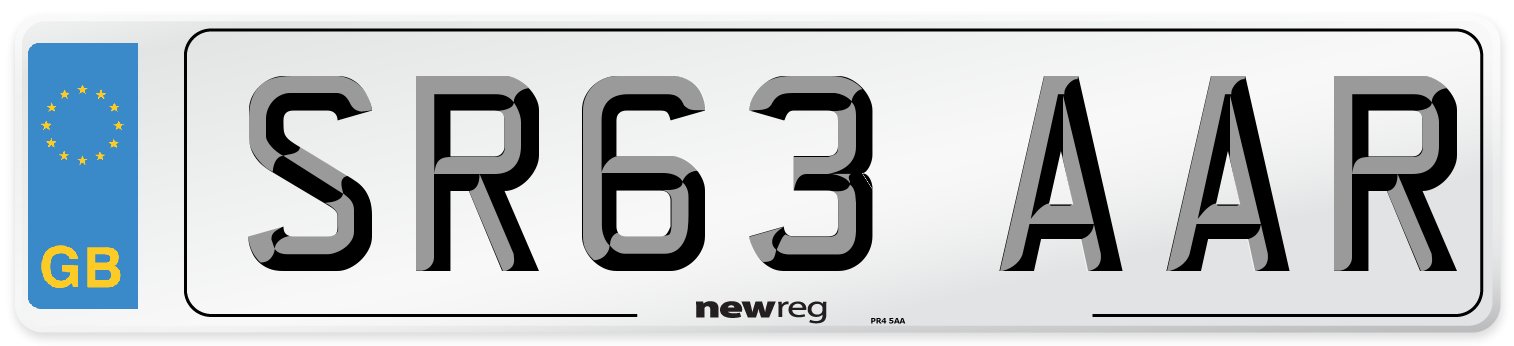 SR63 AAR Number Plate from New Reg