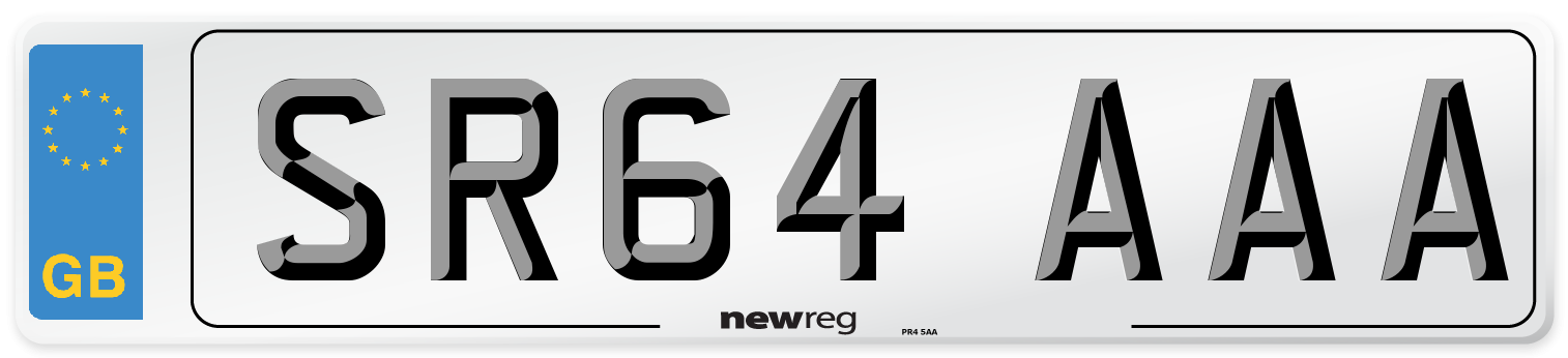 SR64 AAA Number Plate from New Reg