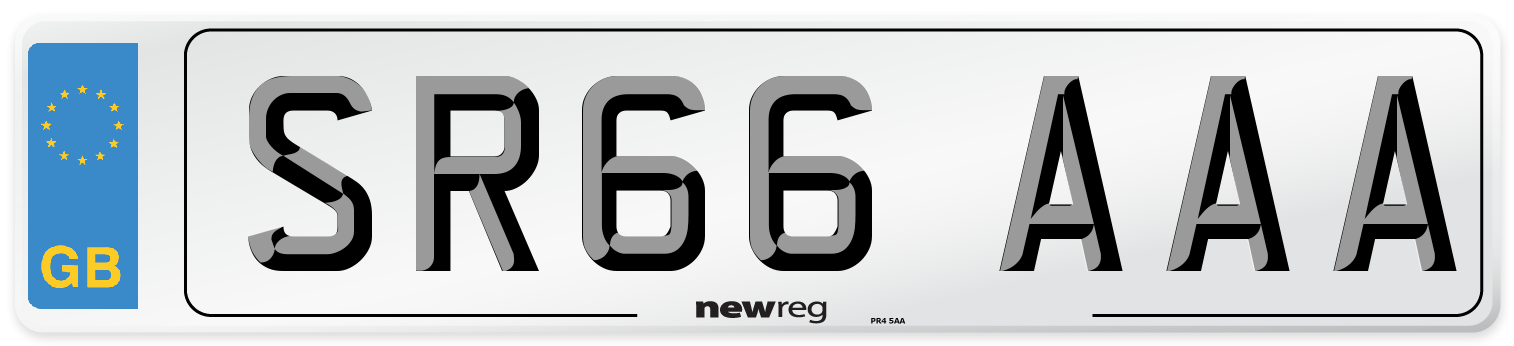 SR66 AAA Number Plate from New Reg