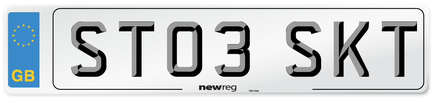 ST03 SKT Number Plate from New Reg