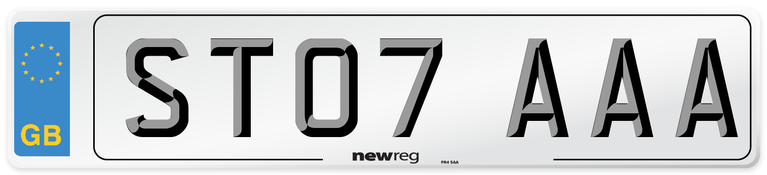 ST07 AAA Number Plate from New Reg