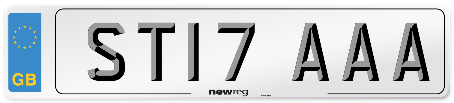 ST17 AAA Number Plate from New Reg