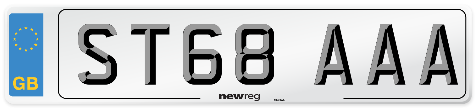 ST68 AAA Number Plate from New Reg