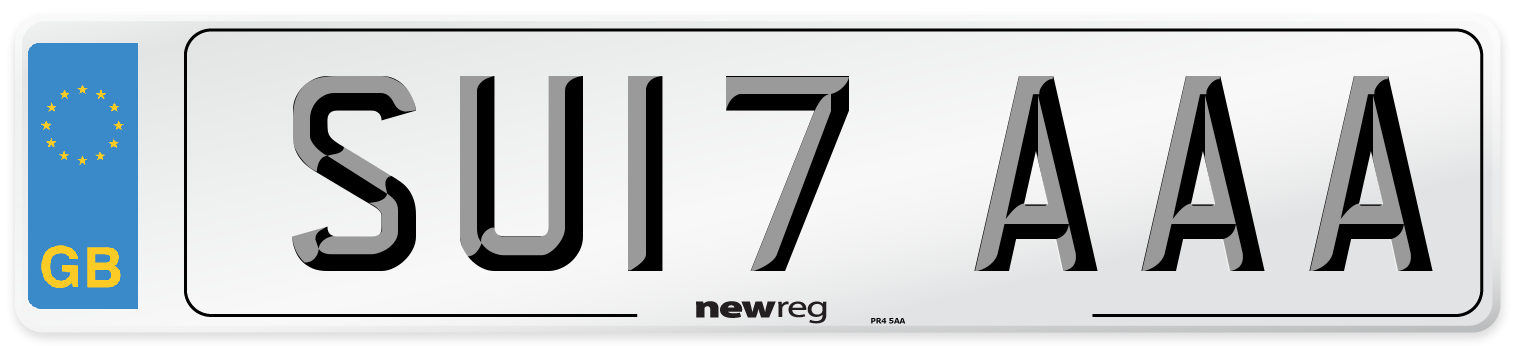 SU17 AAA Number Plate from New Reg