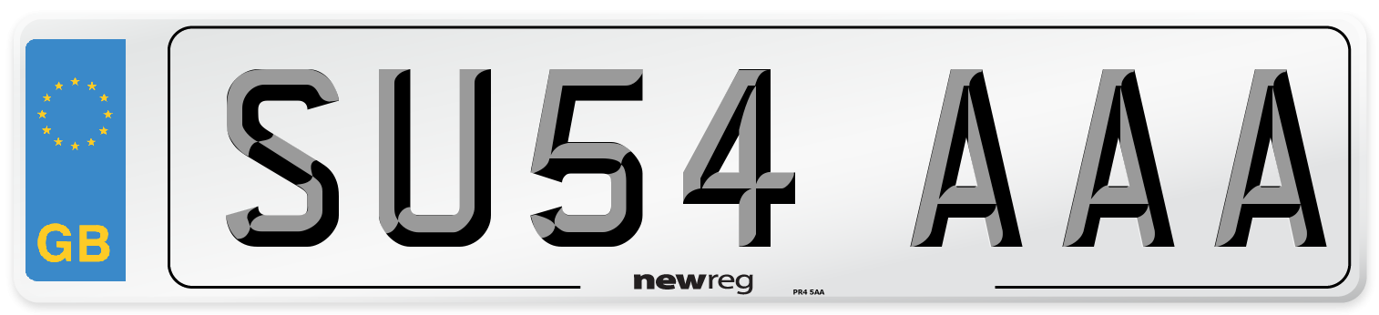 SU54 AAA Number Plate from New Reg