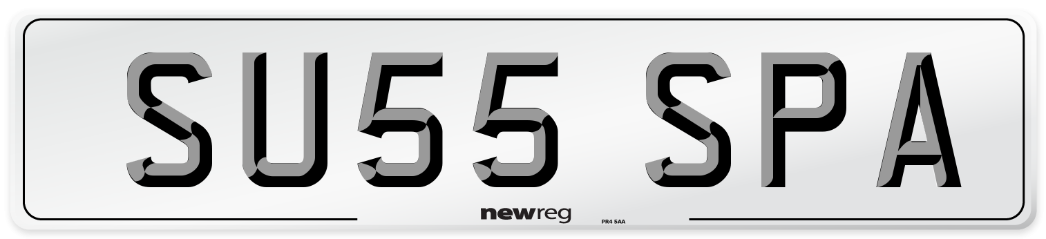 SU55 SPA Number Plate from New Reg