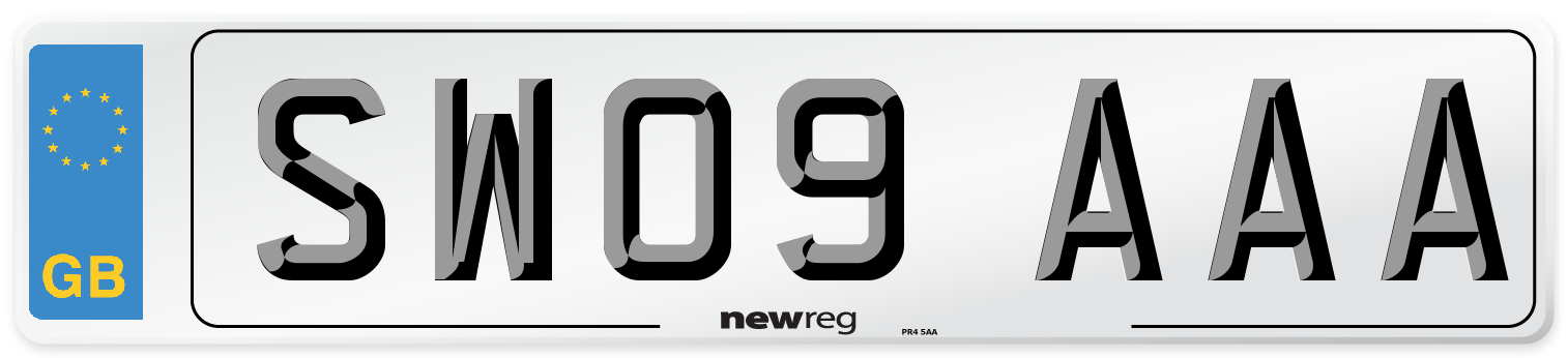 SW09 AAA Number Plate from New Reg