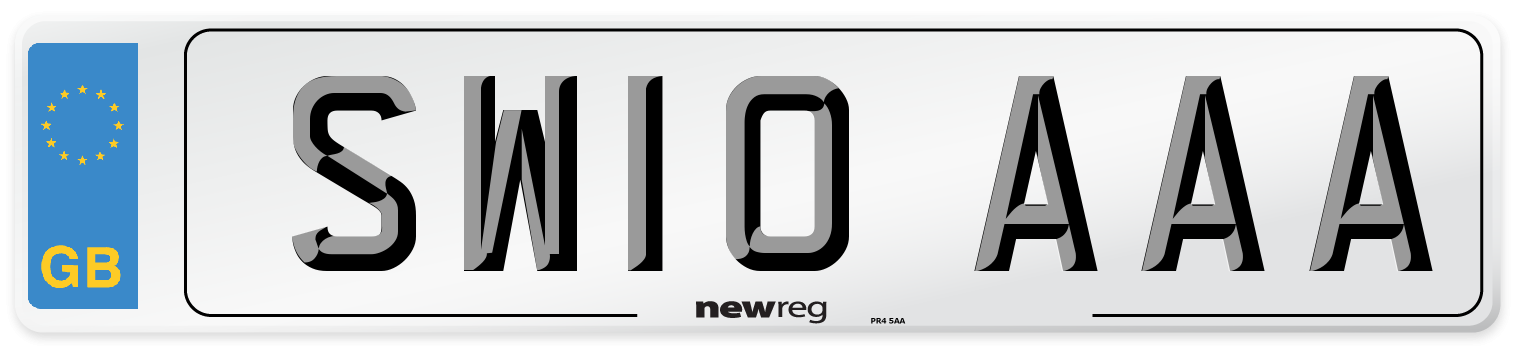 SW10 AAA Number Plate from New Reg