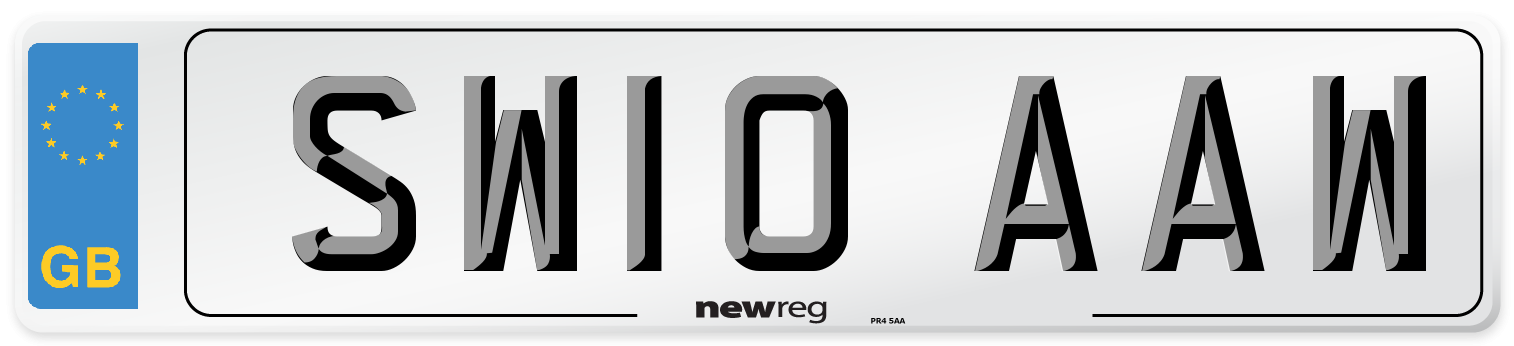 SW10 AAW Number Plate from New Reg