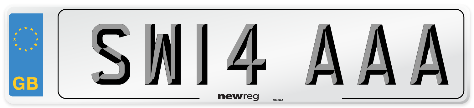 SW14 AAA Number Plate from New Reg