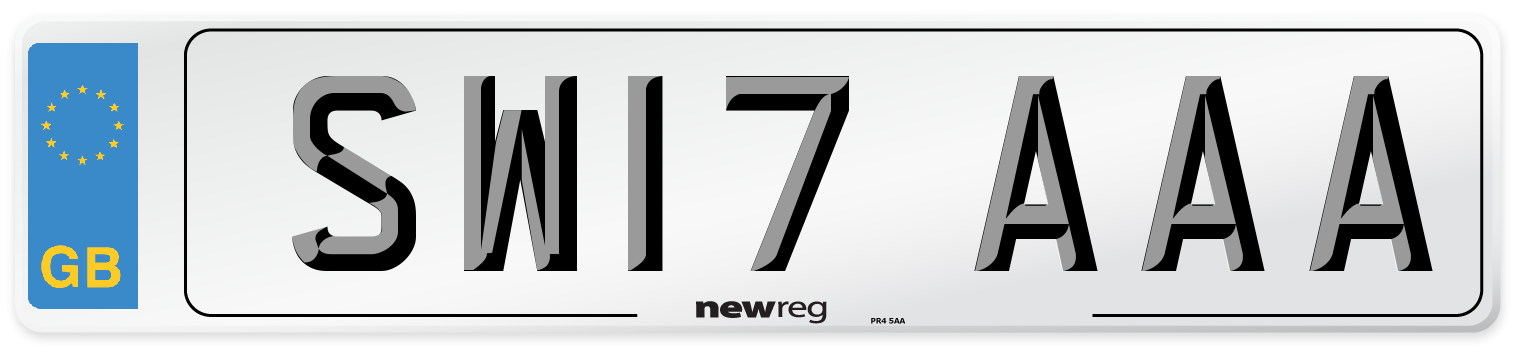 SW17 AAA Number Plate from New Reg