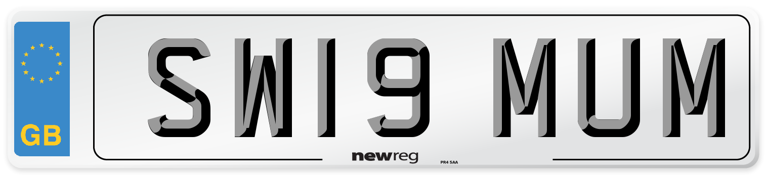 SW19 MUM Number Plate from New Reg