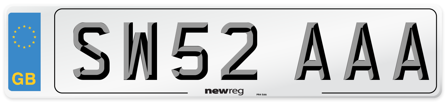 SW52 AAA Number Plate from New Reg