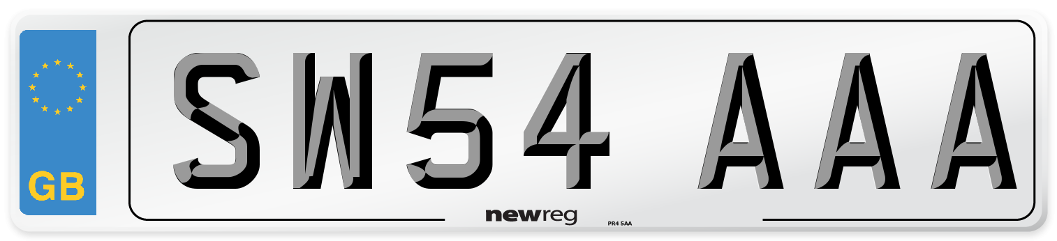 SW54 AAA Number Plate from New Reg