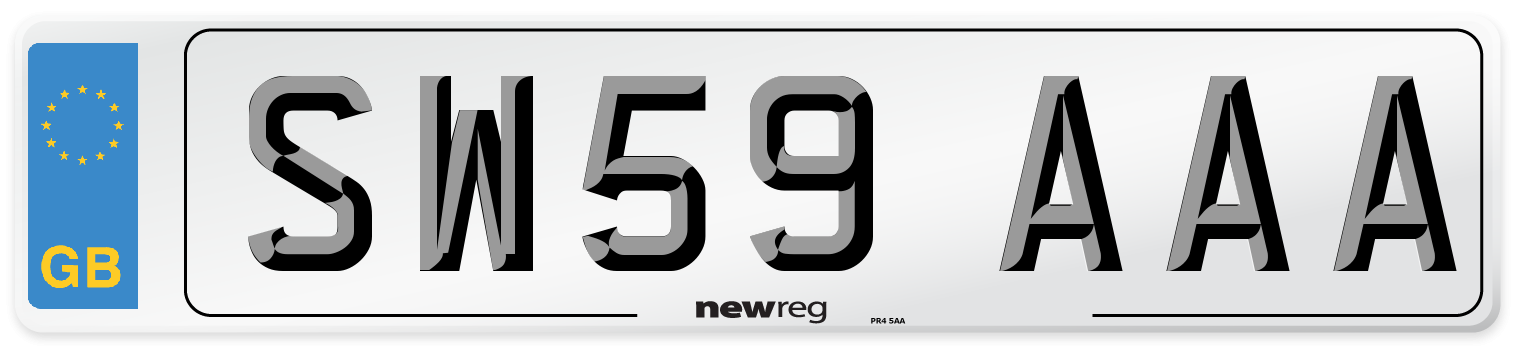 SW59 AAA Number Plate from New Reg