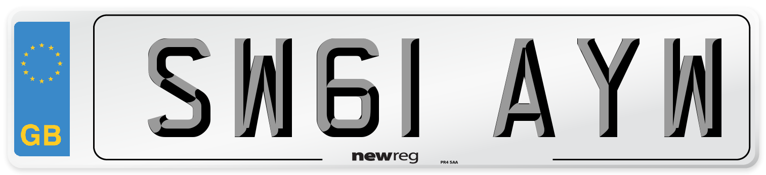 SW61 AYW Number Plate from New Reg