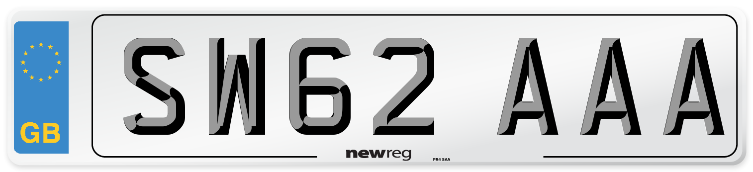 SW62 AAA Number Plate from New Reg