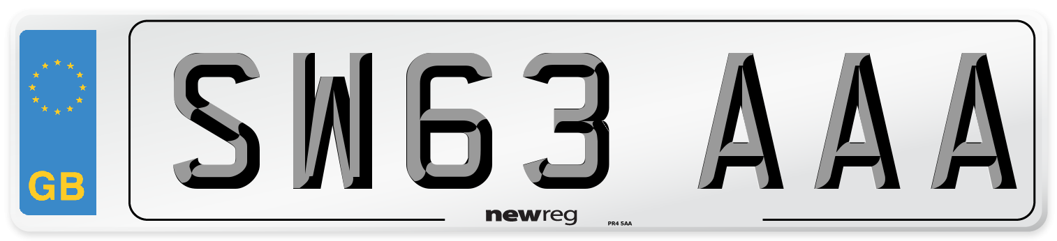 SW63 AAA Number Plate from New Reg