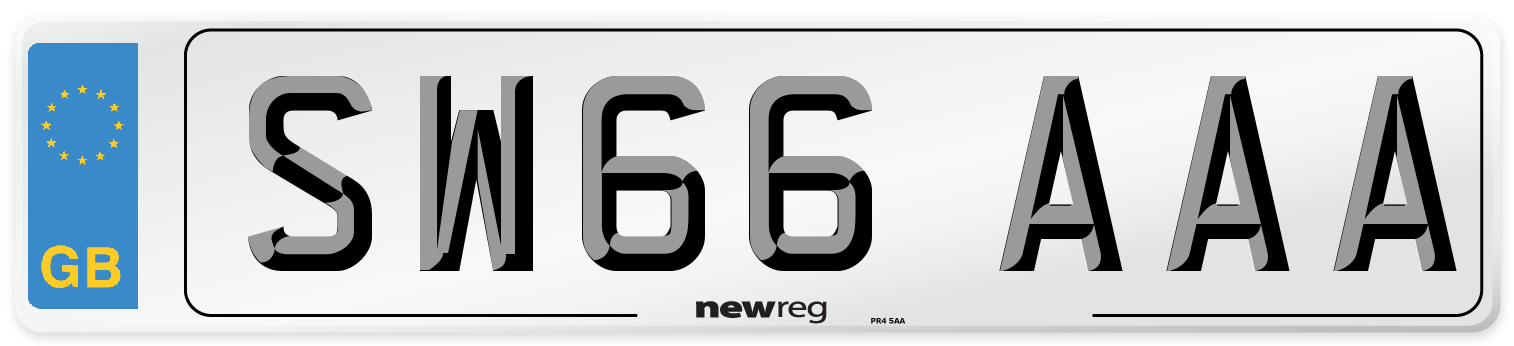SW66 AAA Number Plate from New Reg