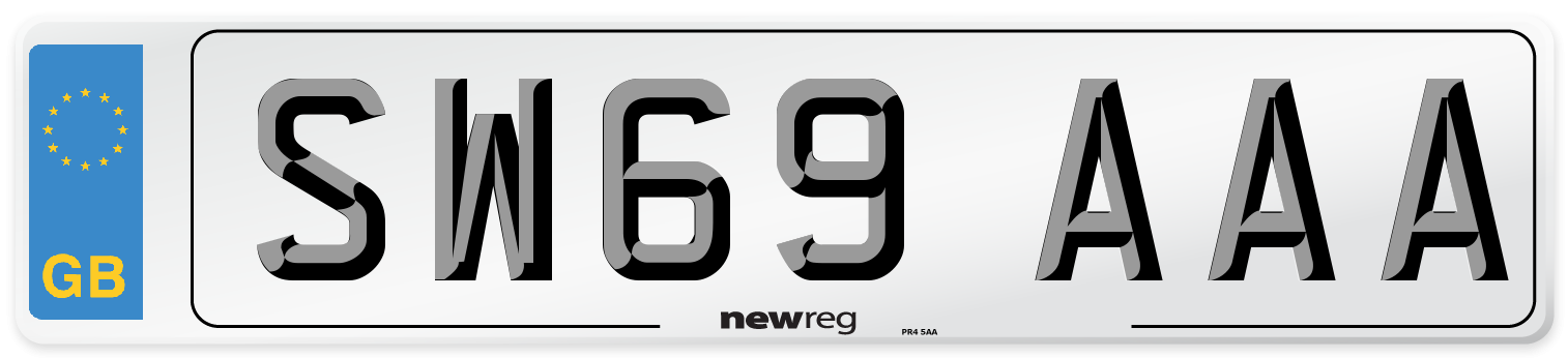 SW69 AAA Number Plate from New Reg