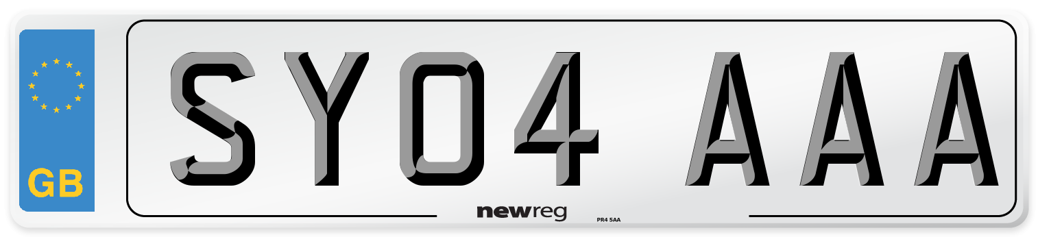 SY04 AAA Number Plate from New Reg