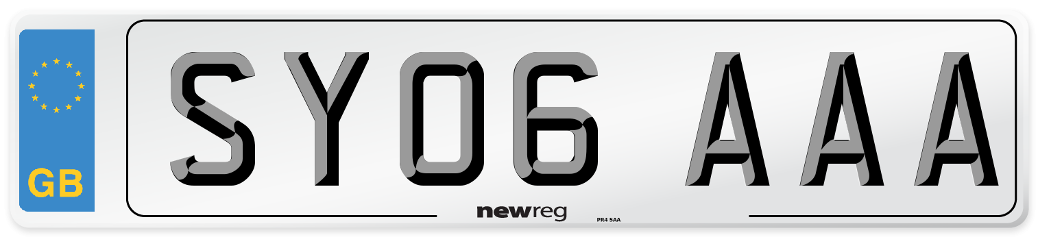 SY06 AAA Number Plate from New Reg