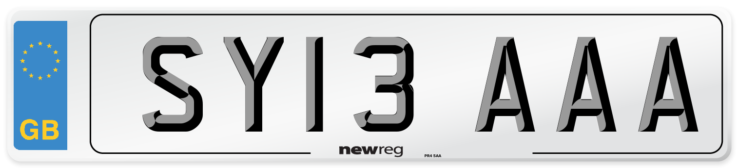 SY13 AAA Number Plate from New Reg