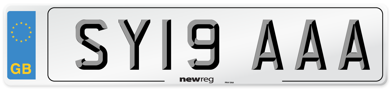 SY19 AAA Number Plate from New Reg