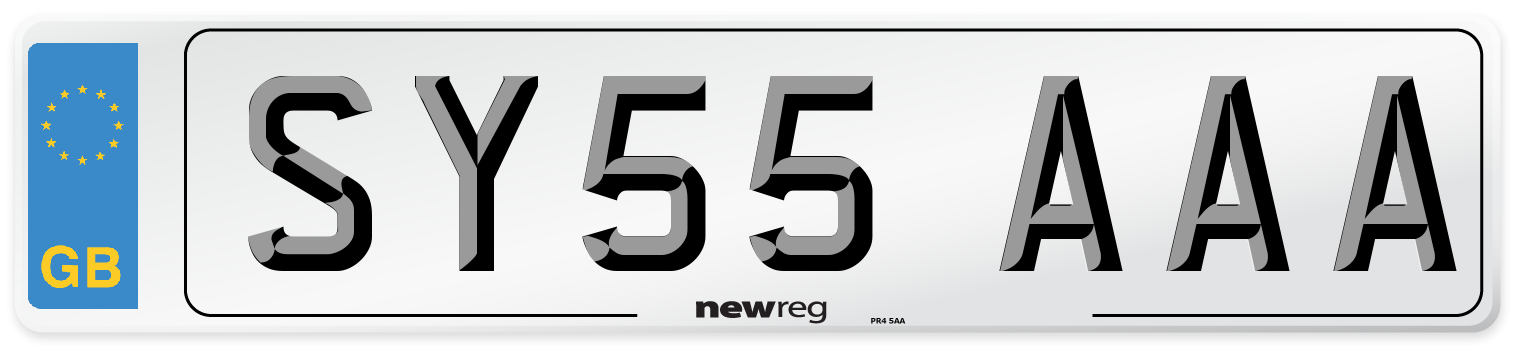SY55 AAA Number Plate from New Reg