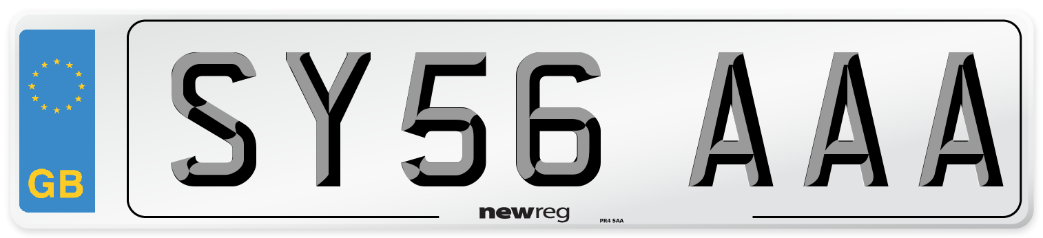 SY56 AAA Number Plate from New Reg