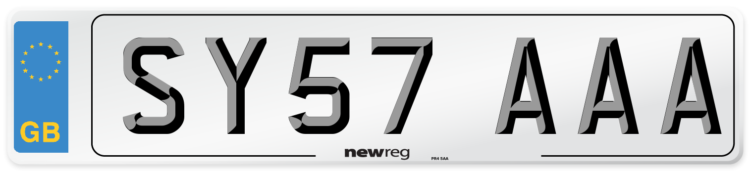 SY57 AAA Number Plate from New Reg