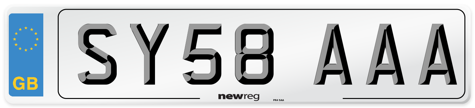 SY58 AAA Number Plate from New Reg