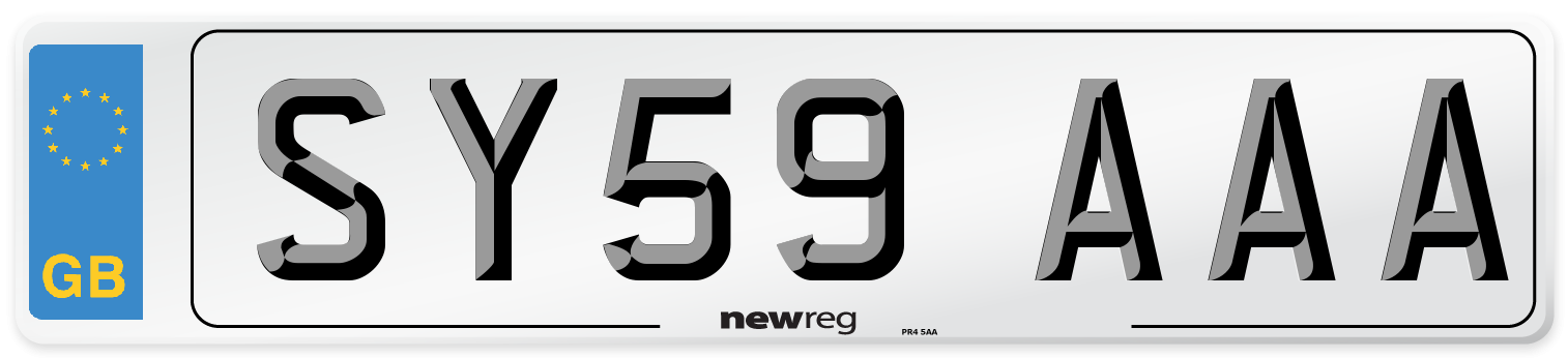 SY59 AAA Number Plate from New Reg