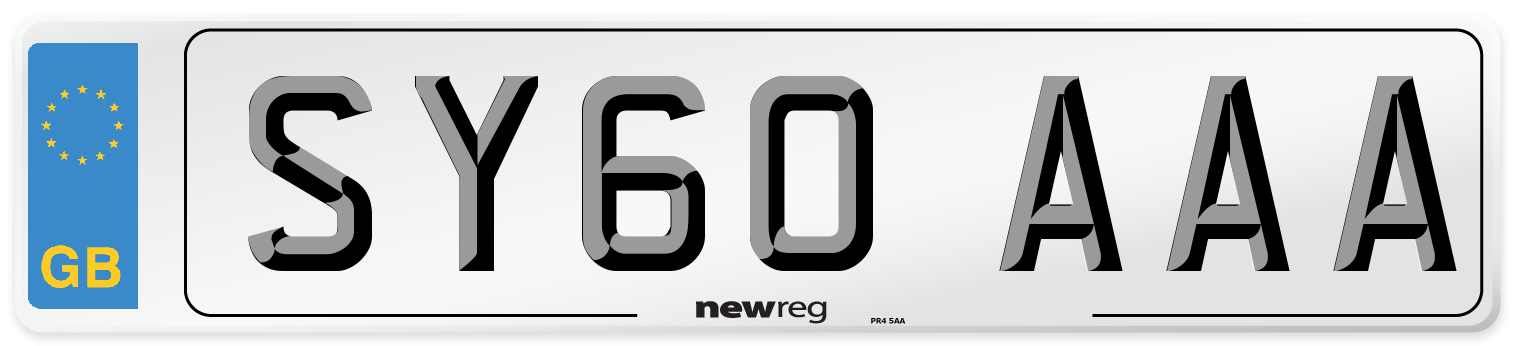 SY60 AAA Number Plate from New Reg