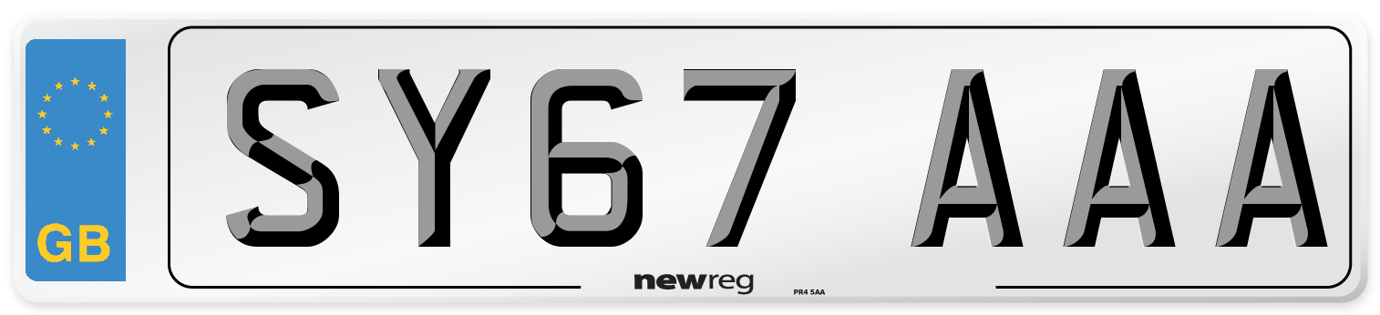 SY67 AAA Number Plate from New Reg
