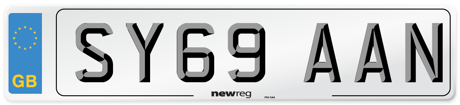 SY69 AAN Number Plate from New Reg