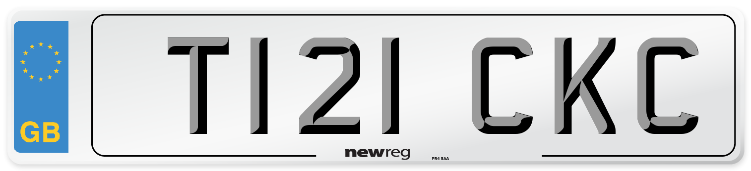 T121 CKC Number Plate from New Reg