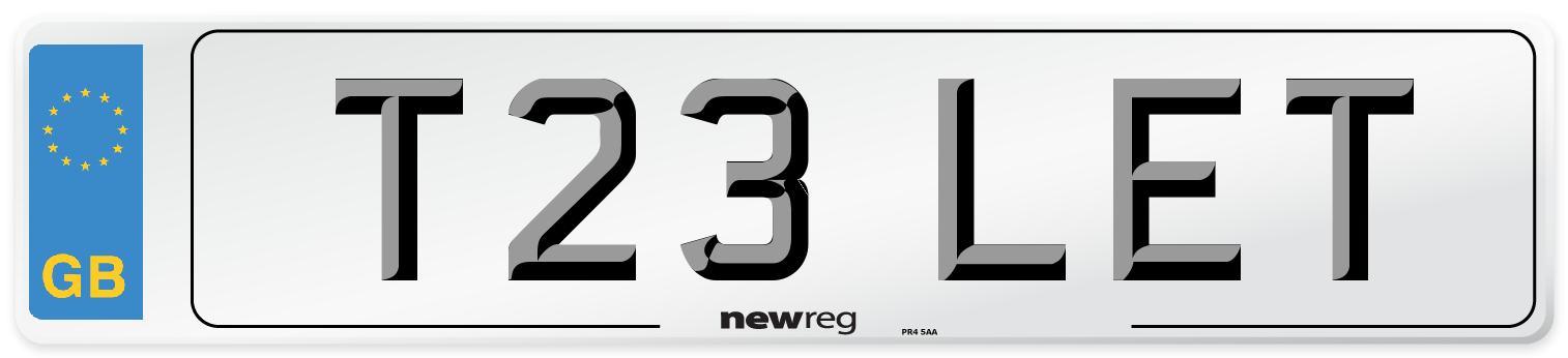T23 LET Number Plate from New Reg