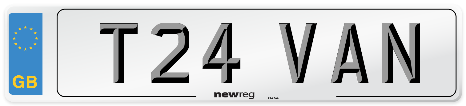 T24 VAN Number Plate from New Reg