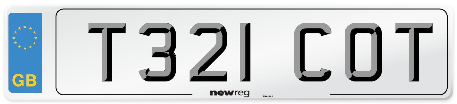 T321 COT Number Plate from New Reg