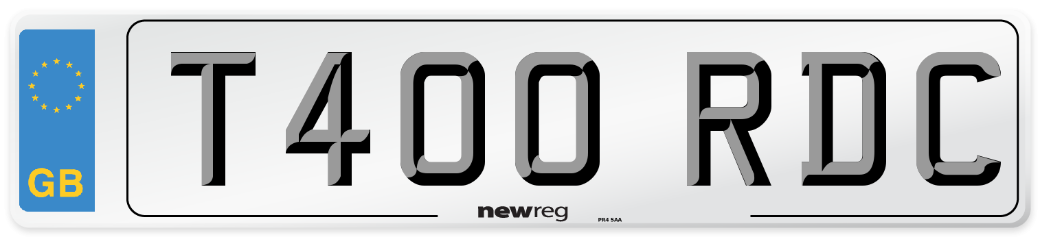 T400 RDC Number Plate from New Reg