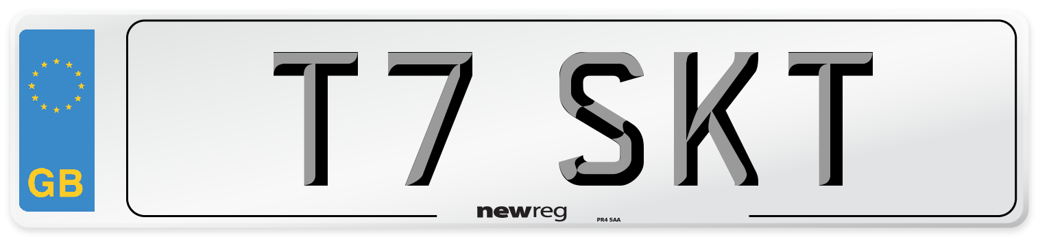 T7 SKT Number Plate from New Reg