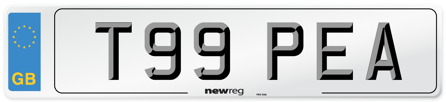 T99 PEA Number Plate from New Reg
