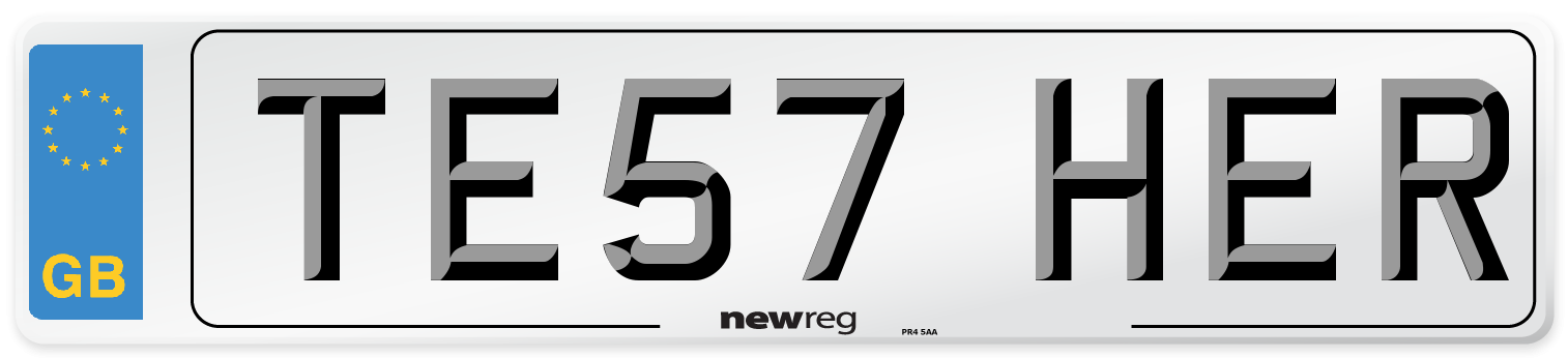 TE57 HER Number Plate from New Reg