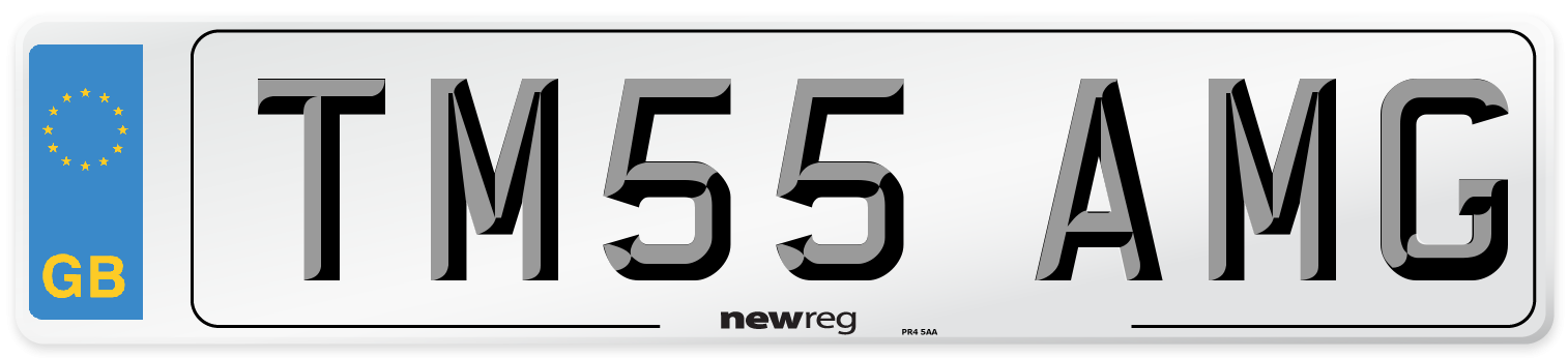 TM55 AMG Number Plate from New Reg