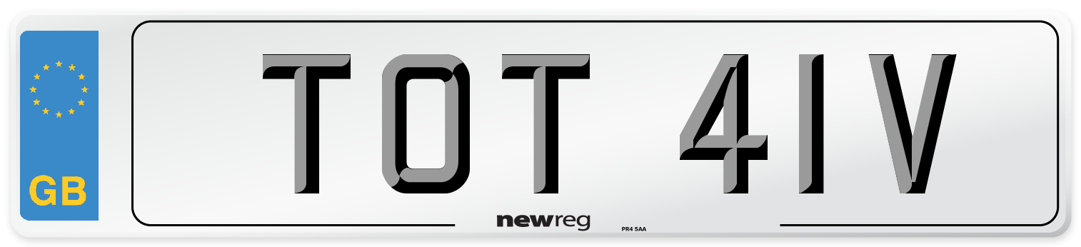 TOT 41V Number Plate from New Reg