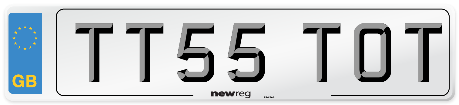 TT55 TOT Number Plate from New Reg